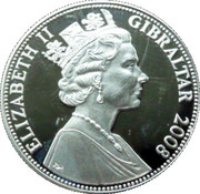 5 Pounds - Elizabeth II (Battle of Trafalgar) – obverse