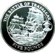 5 Pounds - Elizabeth II (Battle of Trafalgar) – reverse