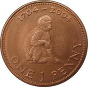 1 Penny - Elizabeth II (300th Anniversary of British Occupation) – reverse