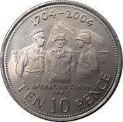 10 Pence - Elizabeth II (Occupation) – reverse