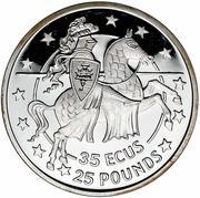 35 ECUs / 25 Pounds - Elizabeth II – reverse