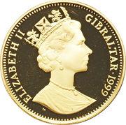 ½ Crown - Elizabeth II (Queen Elizabeth I) – obverse