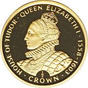 ½ Crown - Elizabeth II (Queen Elizabeth I) – reverse