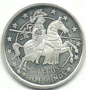 14 ECUs / 10 Pounds - Elizabeth II – reverse