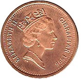 1 Penny - Elizabeth II (Barbary Partridge; magnetic) – obverse