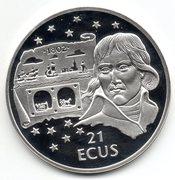 Gibraltar -Napoleon / Euro Tunnel - 21 Ecus – reverse