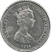 5 Pence - Elizabeth II (Flower) – obverse