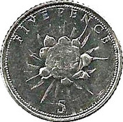 5 Pence - Elizabeth II (Flower) – reverse