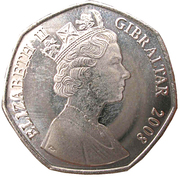 50 Pence - Elizabeth II (Our Lady of Europe) -  obverse
