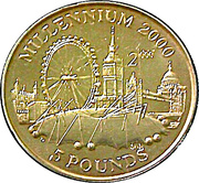 5 Pounds - Elizabeth II (Millennium) -  reverse