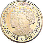 5 Pounds - Elizabeth II (Diamond Jubilee) – reverse