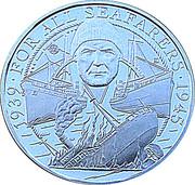 20 Pounds - Elizabeth II (Battle of the Atlantic) – reverse