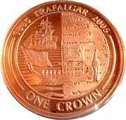 1 Crown - Elizabeth II (Battle of Trafalgar) -  reverse