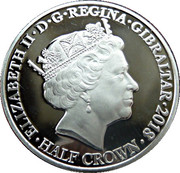 ½ Crown - Elizabeth II (At the Going Down of the Sun) – obverse
