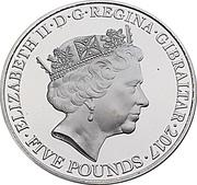 5 Pounds - Elizabeth II (The Legend of Saint George) – obverse