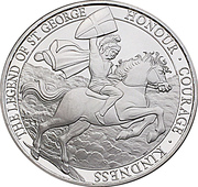 5 Pounds - Elizabeth II (The Legend of Saint George) – reverse