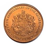 2 Pence - Elizabeth II (1967 Referendum Anniversary) -  reverse