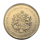 5 Pence - Elizabeth II (1967 Referendum Anniversary) -  reverse