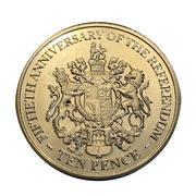 10 Pence - Elizabeth II (1967 Referendum Anniversary) -  reverse