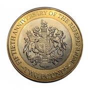 2 Pounds - Elizabeth II (1967 Referendum Anniversary) -  reverse