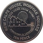 10 Pence - Elizabeth II (New Calpe House) -  reverse