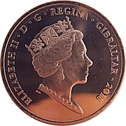 2 Pence - Elizabeth II (New Calpe House) – obverse