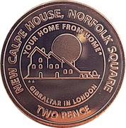 2 Pence - Elizabeth II (New Calpe House) – reverse