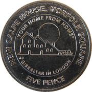 5 Pence - Elizabeth II (New Calpe House) – reverse