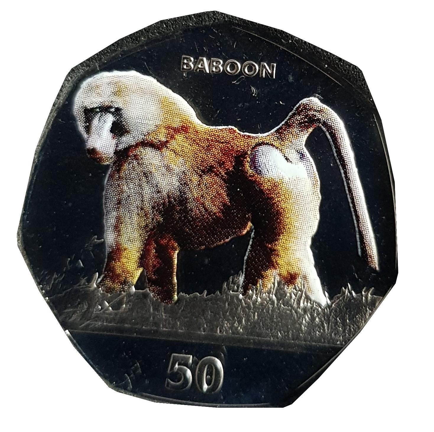 Gibraltar Primates 50p Coin Series 2018 Collectors Album