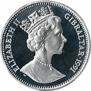 14 ECUs / 10 Pounds - Elizabeth II (Knight) -  obverse