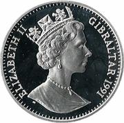 35 ECUs / 25 Pounds - Elizabeth II (Knight) – obverse