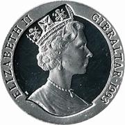 ½ Crown - Elizabeth II (HMS Hood) – obverse