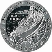 ½ Crown - Elizabeth II (HMS Hood) – reverse