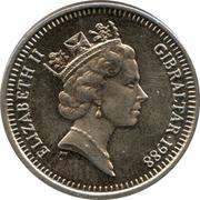 5 Pence - Elizabeth II (3rd portrait; large type) – obverse