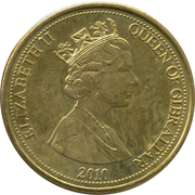 5 Pounds - Elizabeth II (3rd portrait) – obverse