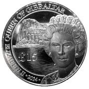 15 Pounds - Elizabeth II (Silver £15 Royal) – obverse