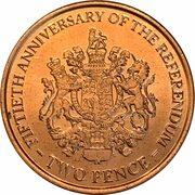 2 Pence - Elizabeth II (1967 Referendum Anniversary) – reverse
