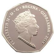 50 Pence - Elizabeth II (D-Day Anniversary; Silver Piedfort) -  obverse