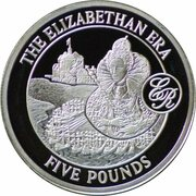5 Pounds - Elizabeth II (Elizabeth I) – reverse