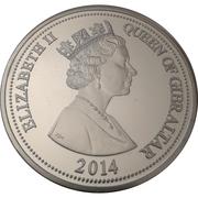 20 Pounds - Elizabeth II (Capture of Gibraltar Anniversary) – obverse