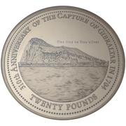 20 Pounds - Elizabeth II (Capture of Gibraltar Anniversary) – reverse