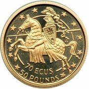 70 ECUs / 50 Pounds - Elizabeth II – reverse