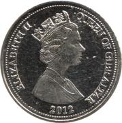 5 Pence - Elizabeth II (3rd portrait) – obverse