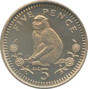 5 Pence - Elizabeth II (3rd portrait; small type) – reverse