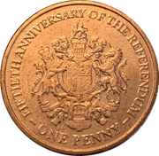 1 Penny - Elizabeth II (1967 Referendum Anniversary) – reverse