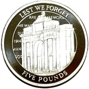 5 Pounds - Elizabeth II (The Menin Gate Memorial) – reverse