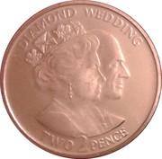 2 Pence - Elizabeth II (Diamond Wedding) – reverse