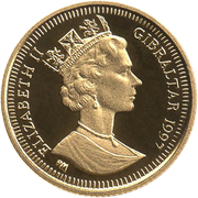 1/25 Crown - Elizabeth II (Ancient Egypt) – obverse