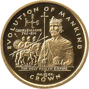 1/25 Crown - Elizabeth II (The Holy Roman Empire) – reverse