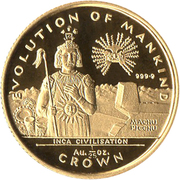 1/25 Crown - Elizabeth II (Inca Civilisation) – reverse